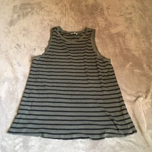 Splendid gray back striped racer back tank size S